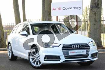 Audi A4 Diesel 35 TDI Sport 5dr S Tronic in Ibis White at Coventry Audi