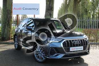 Audi Q3 Diesel 35 TDI S Line 5dr S Tronic in Daytona Grey Pearlescent at Coventry Audi