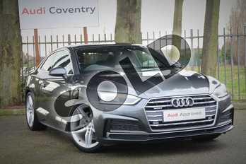 Audi A5 40 TDI Quattro S Line 2dr S Tronic in Daytona Grey Pearlescent at Coventry Audi