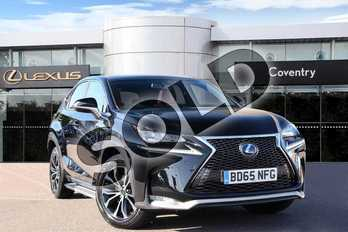 Lexus NX 300h 2.5 F-Sport 5dr CVT (Pan roof/Prem Nav) in Velvet Black at Lexus Coventry