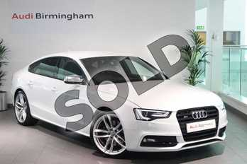 Audi A5 Special Editions S5 Quattro Black Edition 5dr S Tronic in Glacier White, metallic at Birmingham Audi