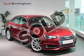 Audi A4 Diesel 35 TDI Sport 4dr S Tronic in Matador Red Metallic at Coventry Audi