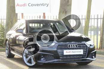Audi A4 35 TFSI Black Edition 4dr S Tronic in Myth Black Metallic at Coventry Audi