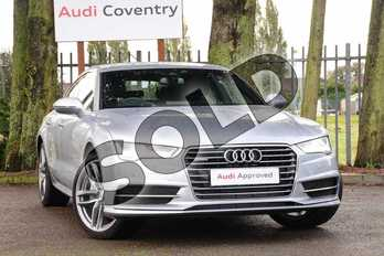 Audi A7 3.0 TDI Quattro 272 S Line 5dr S Tronic in Floret Silver Metallic at Coventry Audi