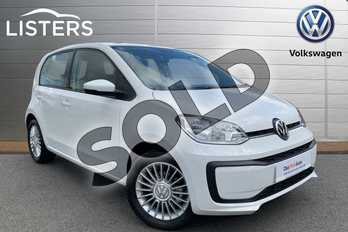 Volkswagen Up 1.0 Move Up 5dr in Candy White at Listers Volkswagen Stratford-upon-Avon