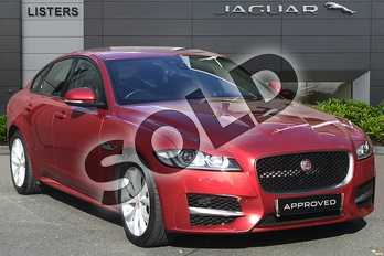 Jaguar XF Diesel 2.0d (180) R-Sport 4dr Auto in Italian Racing Red at Listers Jaguar Droitwich