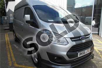 Ford Transit Custom 290 L2 Diesel FWD 2.0 TDCi 130ps Low Roof D/Cab Limited Van in Metallic - Moondust silver at Listers Volkswagen Van Centre Coventry