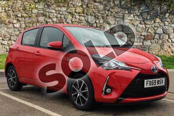 Toyota Yaris 1.5 Hybrid Icon Tech 5dr CVT in Chilli Red at Listers Toyota Boston