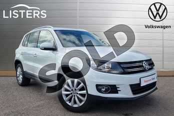 Volkswagen Tiguan Diesel 2.0 TDI BlueMotion Tech Match 4MOTION 5dr 150 DSG in Pure white at Listers Volkswagen Evesham