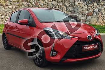 Toyota Yaris 1.5 VVT-i Icon Tech 5dr in Chilli Red at Listers Toyota Boston