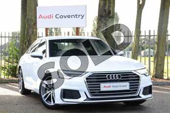 Audi A6 Diesel 40 TDI S Line 4dr S Tronic in Ibis White at Coventry Audi