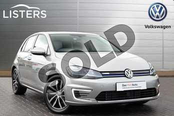 Volkswagen Golf 99kW e-Golf 35kWh 5dr Auto in Silver at Listers Volkswagen Coventry