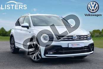 Volkswagen Tiguan 2.0 TDI 190 4Motion R Line Tech 5dr DSG in Pure white at Listers Volkswagen Loughborough