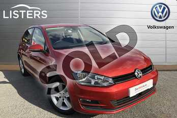 Volkswagen Golf Diesel 1.6 TDI 110 Match 5dr in Carmen Red at Listers Volkswagen Worcester