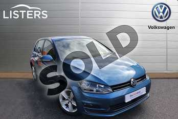 Volkswagen Golf Diesel 1.6 TDI 110 Match Edition 5dr in Blue at Listers Volkswagen Worcester