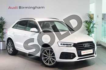 Audi Q3 1.4T FSI S Line 5dr in Glacier White, metallic at Birmingham Audi