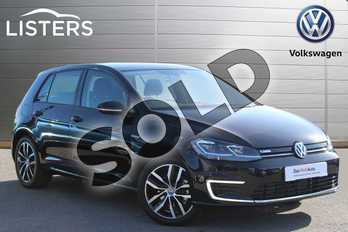 Volkswagen Golf 99kW e-Golf 35kWh 5dr Auto in Deep Black at Listers Volkswagen Nuneaton