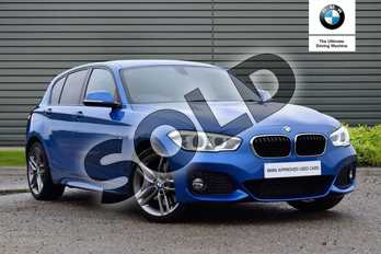 BMW 1 Series 120d M Sport 5-Door in Estoril Blue at Listers Boston (BMW)