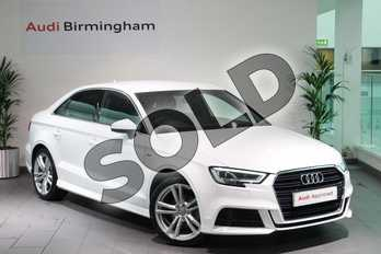 Audi A3 1.4 TFSI S Line 4dr in Ibis White at Birmingham Audi