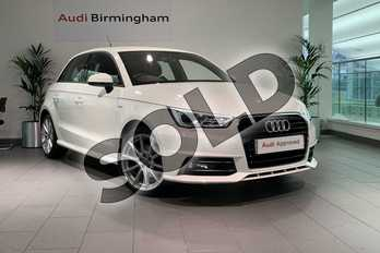 Audi A1 1.4 TFSI S Line 5dr in Shell White at Birmingham Audi