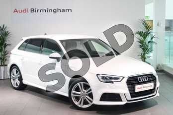 Audi A3 30 TFSI 116 S Line 5dr in Ibis White at Birmingham Audi