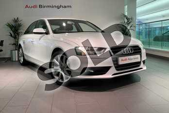Audi A4 Diesel 2.0 TDI 177 SE Technik 4dr in Glacier White, metallic at Birmingham Audi