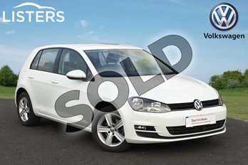 Volkswagen Golf Diesel 1.6 TDI 110 Match Edition 5dr DSG in Pure white at Listers Volkswagen Loughborough