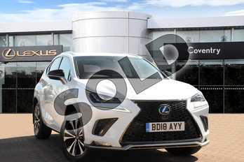 Lexus NX 300h 2.5 F-Sport 5dr CVT (Premium Nav) in F Sport White at Lexus Coventry