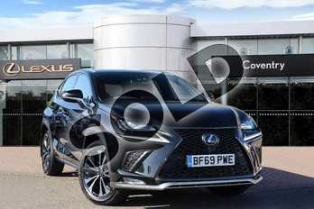 Lexus NX 300h 2.5 F-Sport 5dr CVT (Premium Pack/leather) in Graphite Black at Lexus Coventry