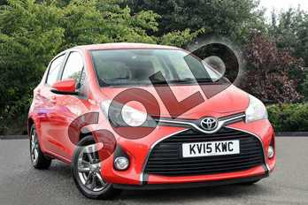 Toyota Yaris 1.33 VVT-i Icon 5dr in Red at Listers Toyota Nuneaton
