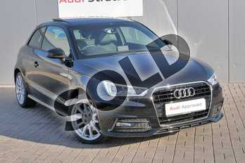 Audi A1 1.4 TFSI 150 S Line 3dr S Tronic in Mythos Black, metallic at Stratford Audi