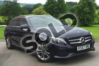 Mercedes-Benz C Class Diesel C200d Sport Premium 5dr Auto in Cavansite Blue Metallic at Mercedes-Benz of Hull