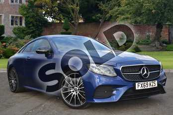 Mercedes-Benz E Class Diesel E220d AMG Line 2dr 9G-Tronic in brilliant blue metallic at Mercedes-Benz of Lincoln