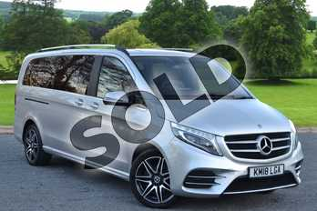 Mercedes-Benz V Class Diesel V220 d AMG Line 5dr Auto (Extra Long) in brilliant silver metallic at Mercedes-Benz of Hull