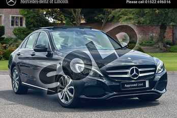 Mercedes-Benz C Class Diesel C220d Sport Premium Plus 4dr Auto in Obsidian Black Metallic at Mercedes-Benz of Lincoln