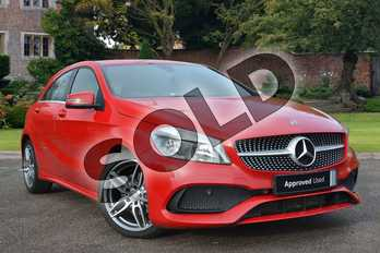 Mercedes-Benz A Class Diesel A180d AMG Line 5dr in Jupiter Red at Mercedes-Benz of Lincoln