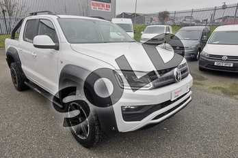 Volkswagen Amarok D/Cab Pick Up Highline 3.0 V6 TDI 258 BMT 4M Auto in White at Listers Volkswagen Van Centre Worcestershire