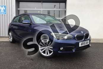 BMW 1 Series 118d Sport 3-door in Mediterranean Blue at Listers King's Lynn (BMW)