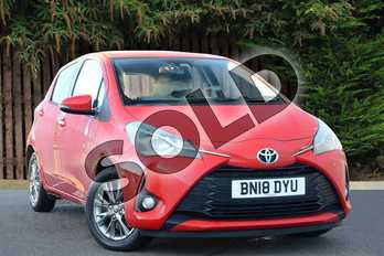 Toyota Yaris 1.5 VVT-i Icon 5dr in Red at Listers Toyota Coventry