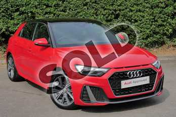 Audi A1 30 TFSI S Line 5dr in Misano Red Pearlescent at Stratford Audi
