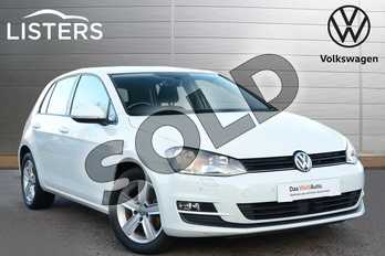 Volkswagen Golf 1.4 TSI 125 Match Edition 5dr in Pure white at Listers Volkswagen Leamington Spa
