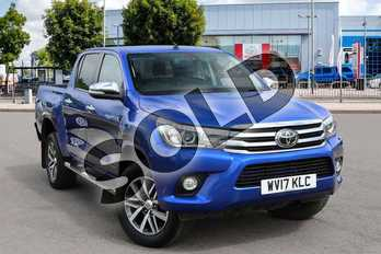 Toyota Hilux Diesel Invincible D/Cab Pick Up 2.4 D-4D in Blue at Listers Toyota Nuneaton