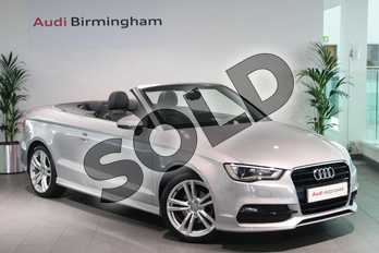 Audi A3 1.4 TFSI 150 S Line 2dr in Lotus Grey, metallic at Birmingham Audi