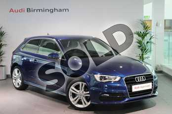 Audi A3 1.4 TFSI 150 S Line 3dr in Scuba Blue, metallic at Birmingham Audi
