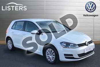 Volkswagen Golf 1.4 TSI S 5dr DSG in Pure White at Listers Volkswagen Stratford-upon-Avon