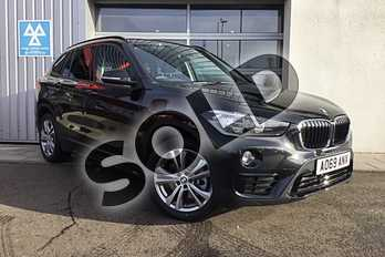 BMW X1 xDrive 20i Sport 5dr Step Auto in Black Sapphire metallic paint at Listers King's Lynn (BMW)