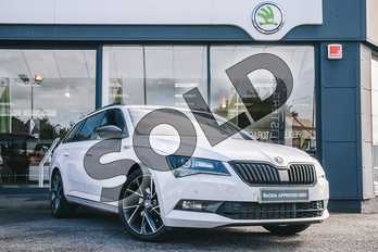 Skoda Superb Diesel 2.0 TDI CR 190 Sport Line Plus 4X4 5dr DSG 7 Speed in Moon White Metallic at Listers ŠKODA Coventry