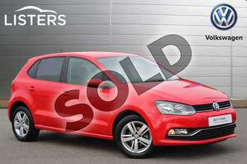 Volkswagen Polo 1.0 75 Match 5dr in Flash Red at Listers Volkswagen Nuneaton