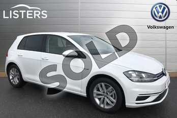 Volkswagen Golf 1.5 TSI EVO Match 5dr in Pure White at Listers Volkswagen Stratford-upon-Avon
