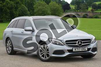 Mercedes-Benz C Class Diesel C200d Sport Premium 5dr Auto in Diamond Silver Metallic at Mercedes-Benz of Grimsby